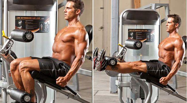 maquina extensión de piernas
