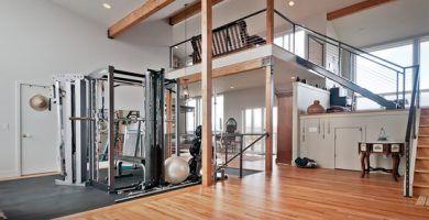 gimnasio en casa moderno