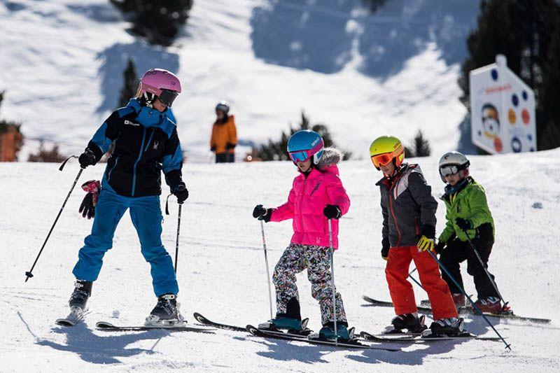 esquiar para ejercitarse